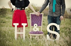 Letras gigantes para boda